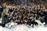 The Los Angeles Kings celebrate winning the 2012 Stanley Cup